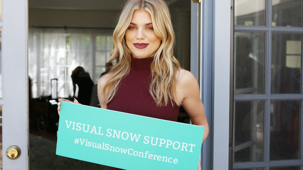 AnnaLynne McCord Raises Awareness for the Visual Snow Conference