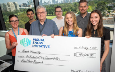 Visual Snow Initiative Raises $140,000 for Visual Snow Research at Monash University